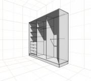 Шкаф-купе 3 секции